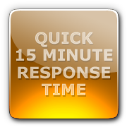 Quick 15 minute response time!
